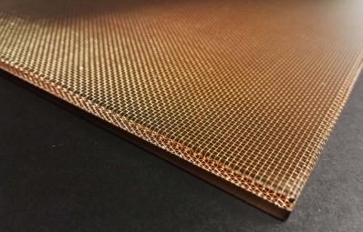 Metalo tinklas Plexiglas stikle TTM Rossi Metal Plexi